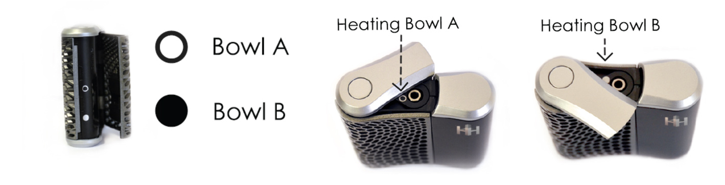 turning on and selecting your bowl